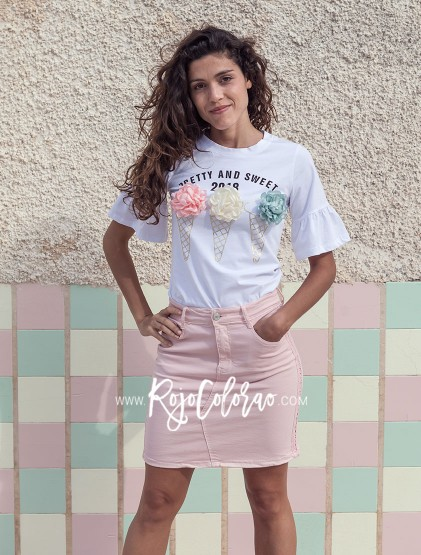 FALDA ELÁSTICA ROSA